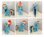 Rainbow Dash plush by GreenTeaCreations