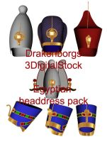Egyptian headdress pack by 3DigitalStock