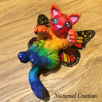 Rainbow Butterfly Kitten by NocturnalCreations-x