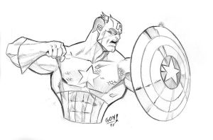 Captain America Tribute a Joe Mad by pollomaxx