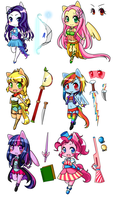 Magical Girl Ponies by NatiiLuv