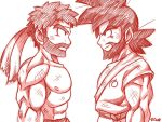 Beard stare down doodle by rongs1234