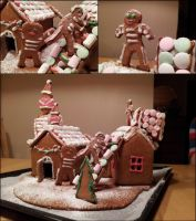 Gingerbread house 1 by KnifeInToaster