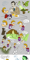 Gwee Meets Rayman doodles - part 9 and 10 by EarthGwee