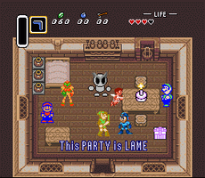 Link holda a lame party by luigihann
