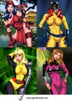 Marvel Girls 6 by gb2k by Mythical-Mommy