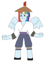 Rainbow Dash in Mystical Kung Fu Warrior by DisneyBrony2012