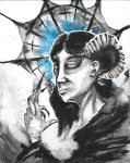 Horned Woman by fainting-goat