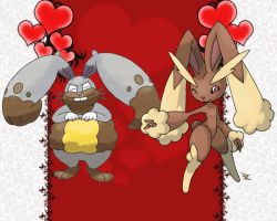 Lopunny X Diggersby Couple
