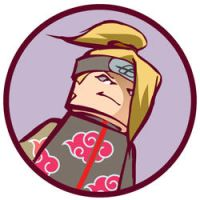 deidara - shippuden- button by Kieshar