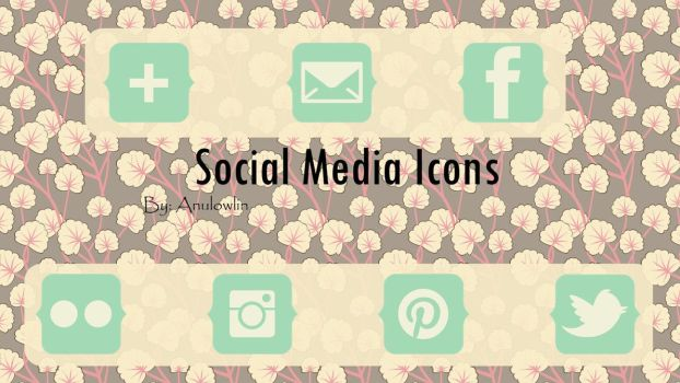 Social Media Icons Pack 11 by Anulowlin