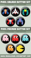 Pixel Galaga and Pacman Sets by MoogleGurl