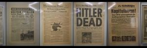 headlines newspapers WWII by RatteMacchiato