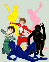 Group Collab: GO GO POWER RANGERS... by ComicCreator