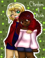 Chesire and Kish by jazzy2cool