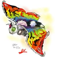Go G: Rainbow Mothra by Vagrant-Verse