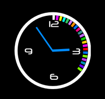 Modern-Animated-Round-Clock 4-3-1 by xordes