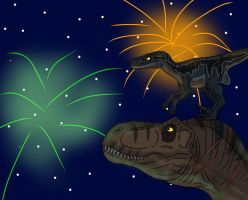 Happy 4th of July with Rexy and Blue by TrefRex
