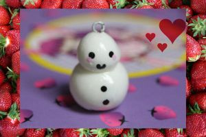 Little Snowman Charm by Ajuchar