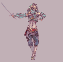 LoZ: Gerudo Link by saltycatfish