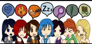 seven deadly chibis by Pisces1090