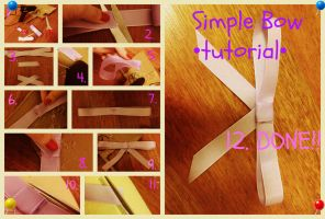 Simple bow EASY TUTORIAL by Takaika