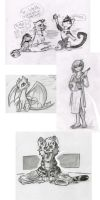 Old Sketch Compilation 4 by Cutter9792
