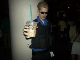 Wesker Starts the Day with Starbucks by BlueEyesMaster