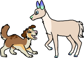 D for Dog, D for Deer by CassMutt