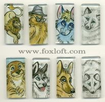 Sumi Glass Pendants - Group 9 by Foxfeather248