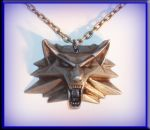 Witcher medallion by DragonfireArtworks