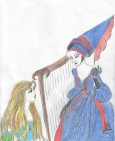Rapunzel and mother Mother Gothel by Angels-Pixie-D