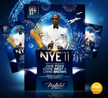 New Year's Eve Party Flyer Template by Party-Flyer