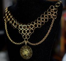 Steampunky Necklace Dealie by psychicsandswords