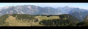Bromberg Alm Panorama by pitchblacknight