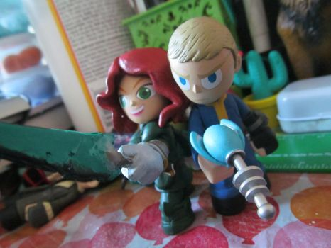 Funko Mini Jo and Nate WIP by Vault44