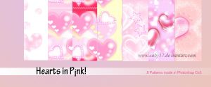 Hearts in Pink Patterns by Coby17