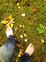 Barefoot in Autumn by PhilsPictures