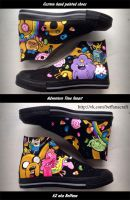 Adventure time fanart, custom hand painted shoes by Beffana
