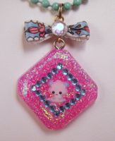 Panda Princess Under resin Necklace by PoniesOfDOOOM