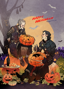 Witcher Vampires on Halloween. by freestarisis