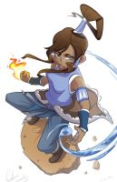 Korra In Action by Curly-Artist