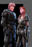 Kristoff and Anna, Gears of War by Authress