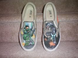Halo Shoes by Paintforbrains