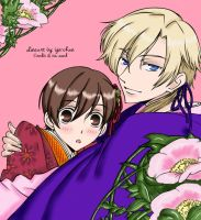 Ouran Lineart: colored by britne-elizabeth