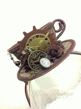 Steampunk Tea Cup Hat by VanRoy13