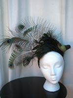 Perched Peacock Headpiece by Mrs-SaxoBeat