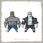 Little Friends - Hulk and Grundy by darrenrawlings