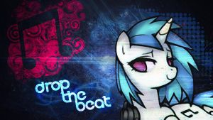 Vinyl Scratch Wallpaper by LoGELKOO