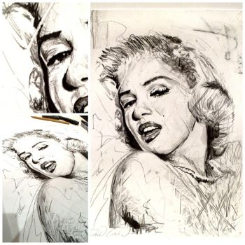 Marilyn Monroe by artbydavidc